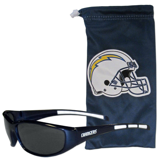 Los Angeles Chargers Sunglass and Bag Set (SSKG) - 757 Sports Collectibles