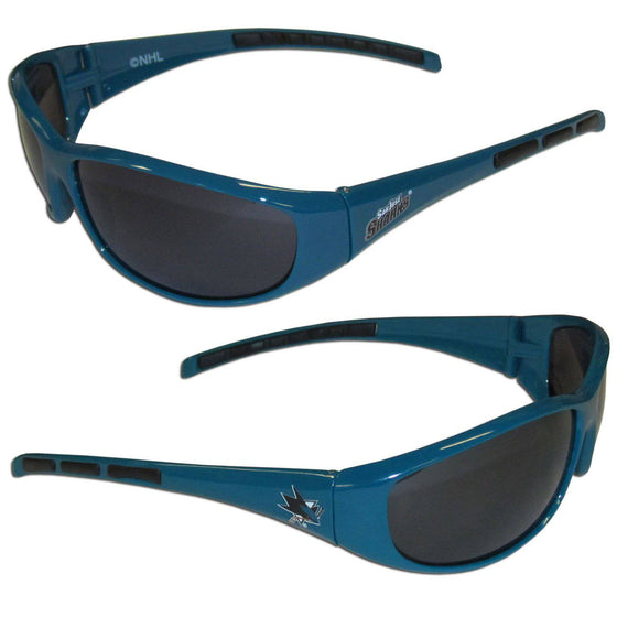 San Jose Sharks�� Wrap Sunglasses (SSKG) - 757 Sports Collectibles