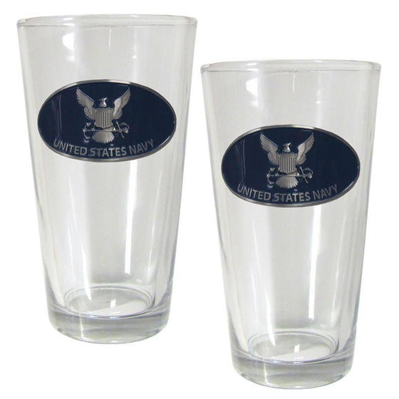 Navy Pint Glass Set (SSKG) - 757 Sports Collectibles