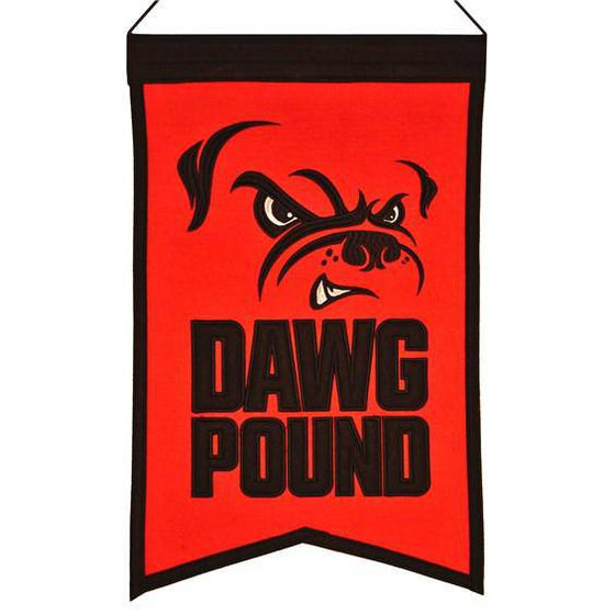 "Cleveland Browns Franchise Banner 14""x22"" Wool Embroidered"