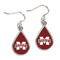Mississippi State Bulldogs Earrings Tear Drop Style (CDG)