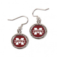 Mississippi State Bulldogs Earrings Round Style (CDG)