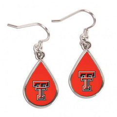 Texas Tech Red Raiders Earrings Tear Drop Style (CDG)