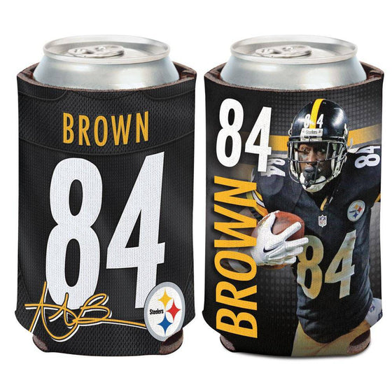 NFL Pittsburgh Steelers Antonio Brown Neoprene Can Coolor Koozie