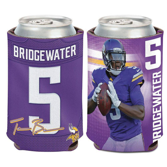 NFL Minnesota Vikings Teddy Bridgewater Neoprene Can Coolor Koozie - 757 Sports Collectibles