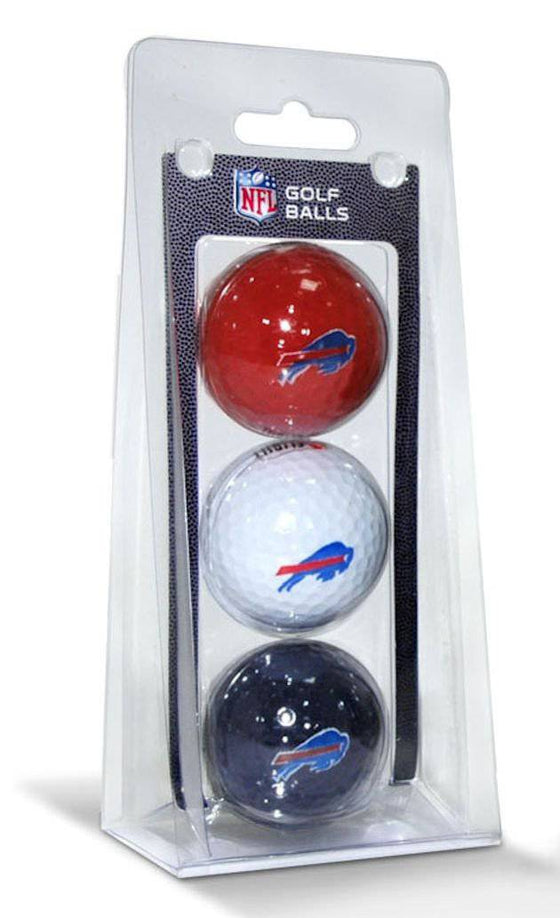 Buffalo Bills 3 Pack Multicolor Golf Balls
