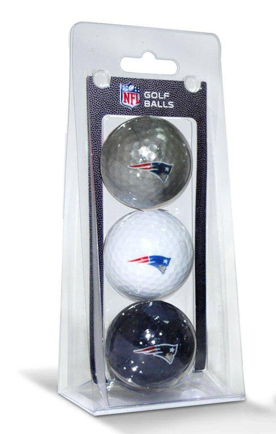 NFL New England Patriots 3 Pack Multicolor Golf Balls - 757 Sports Collectibles