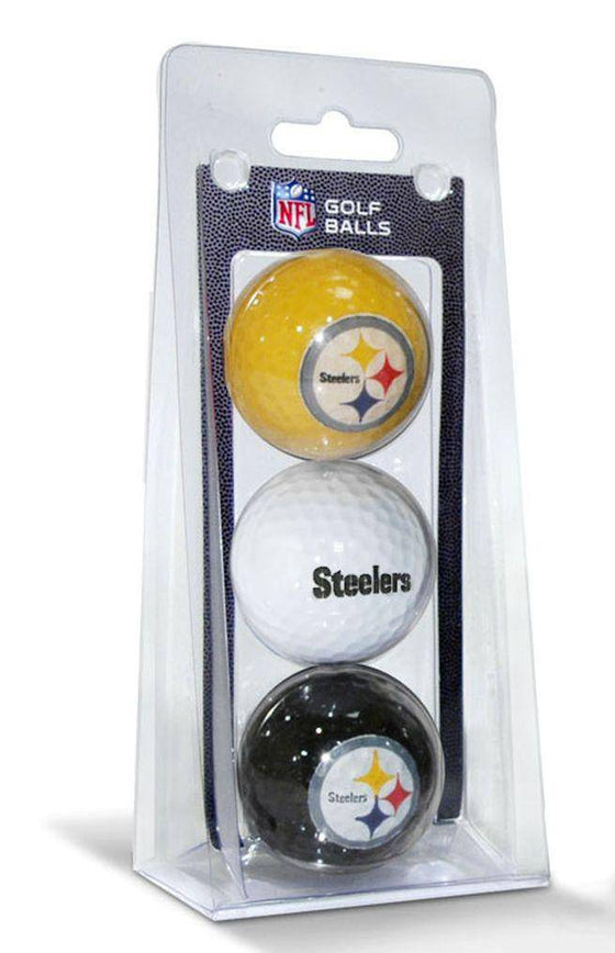 NFL Pittsburgh Steelers 3 Pack Multicolor Golf Balls