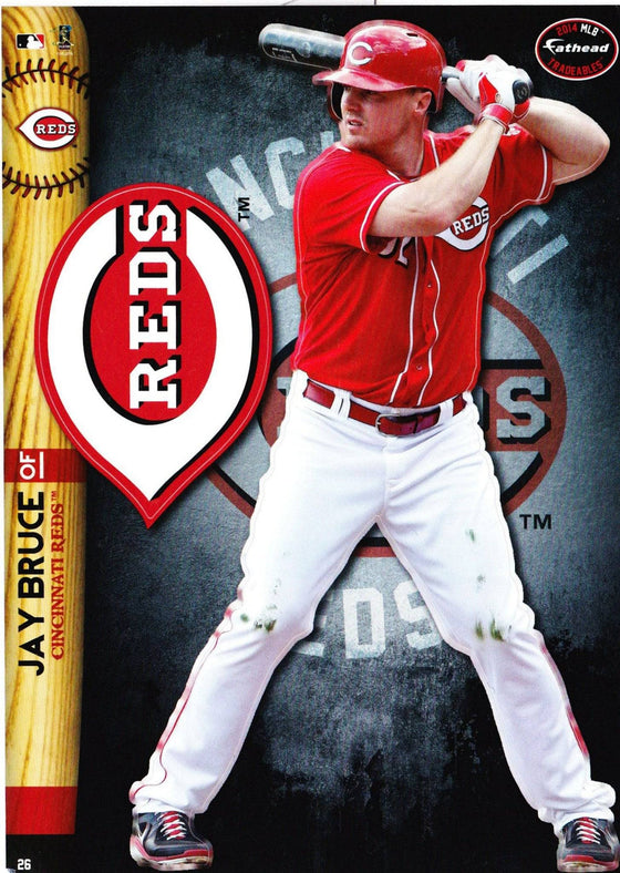 MLB Cincinnati Reds Jay Bruce Fathead Tradeable Decal Sticker 5x7 - 757 Sports Collectibles