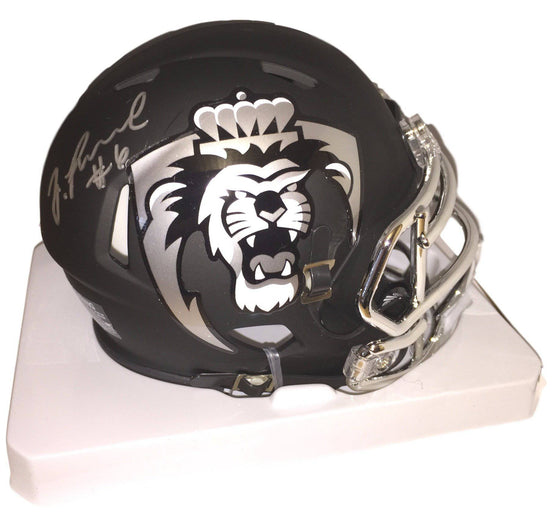 Old Dominion ODU Monarchs Zach Pascal Signed Autographed Mini Helmet (JSA PSA Pass) 757 COA 'Black Chrome' - 757 Sports Collectibles