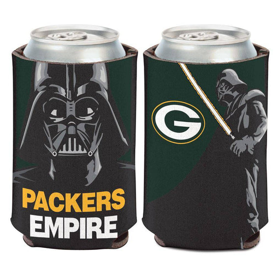 NFL Green Bay Packers Darth Vader Star Wars Packer Empire 12 oz Can Cooler
