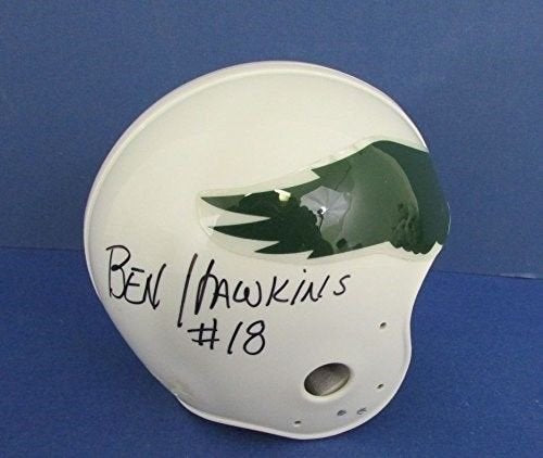 Best Authentics Ben Hawkins Philadelphia Eagles Signed Throwback Mini Helmet 121931