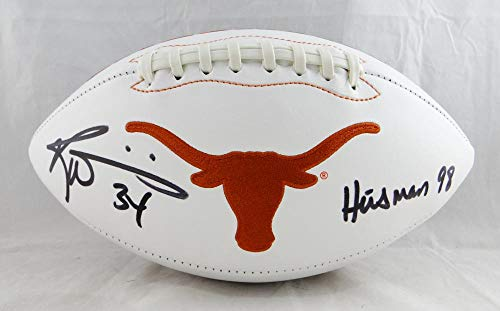 Ricky Williams Autographed Texas Longhorns Logo Football w/Heisman 98- JSA W Authenticated