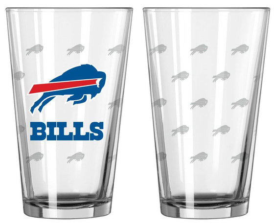 Buffalo Bills Satin Etch Pint Glass Set (CDG)