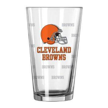 Cleveland Browns Satin Etch Pint Glass Set (CDG)