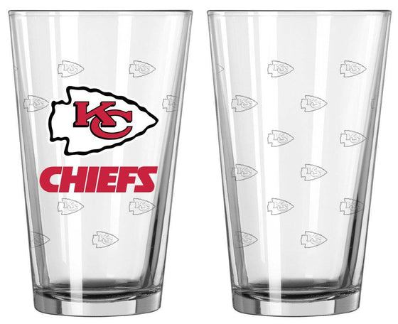 Kansas City Chiefs Satin Etch Pint Glass Set (CDG)