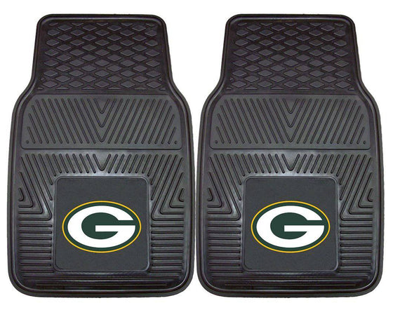 Green Bay Packers Car Mats Heavy Duty 2 Piece Vinyl (CDG)