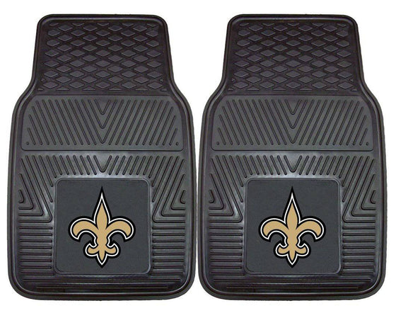 New Orleans Saints Car Mats Heavy Duty 2 Piece Vinyl (CDG)