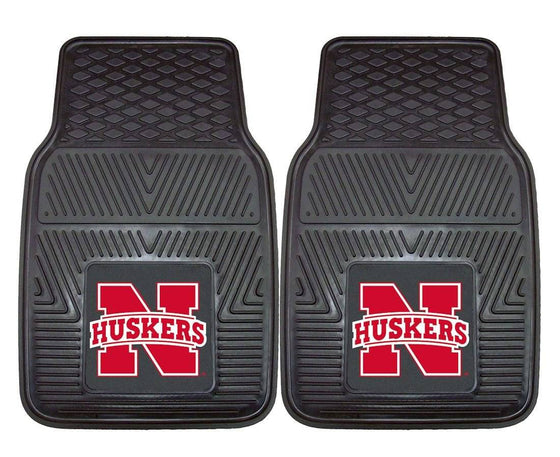Nebraska Cornhuskers  Heavy Duty 2-Piece Vinyl Car Mats (CDG)