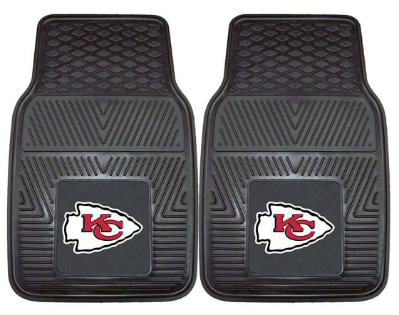 Kansas City Chiefs Car Mats Heavy Duty 2 Piece Vinyl (CDG)