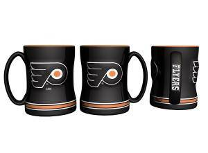 Philadelphia Flyers Coffee Mug - 14oz Sculpted Relief (CDG)