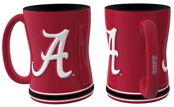 Alabama Crimson Tide Coffee Mug - 14oz Sculpted Relief (CDG)