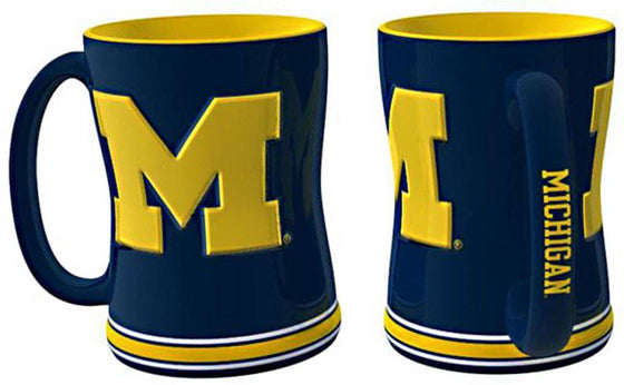 Michigan Wolverines Coffee Mug - 14oz Sculpted Relief (CDG)