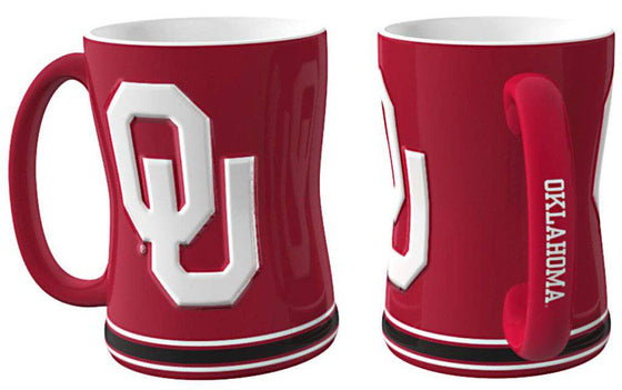 Oklahoma Sooners Coffee Mug - 14oz Sculpted Relief (CDG)