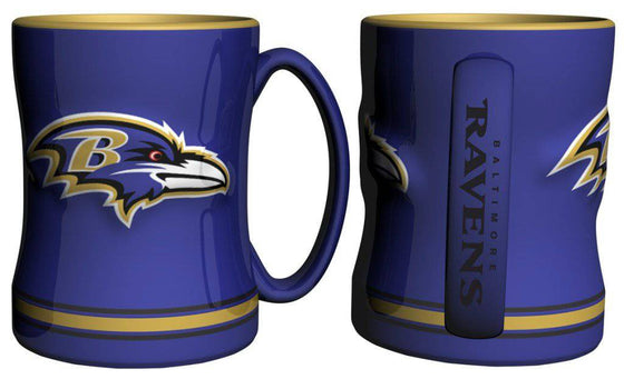 Baltimore Ravens Coffee Mug - 14oz Sculpted Relief (CDG)
