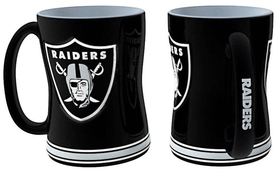Oakland Raiders Coffee Mug - 14oz Sculpted Relief (CDG)