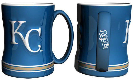 Kansas City Royals Coffee Mug - 14oz Sculpted Relief (CDG)
