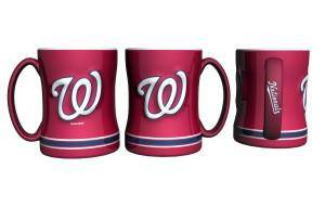 Washington Nationals Coffee Mug - 14oz Sculpted Relief (CDG)