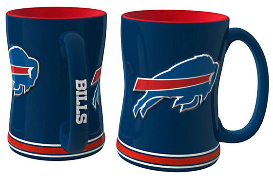 Buffalo Bills Coffee Mug - 14oz Sculpted Relief (CDG)