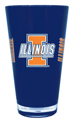 Illinois Fighting Illini 20 oz Insulated Plastic Pint Glass (CDG)