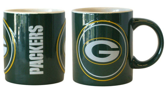 Green Bay Packers Coffee Mug - 14oz Sculpted Warm Up (CDG)