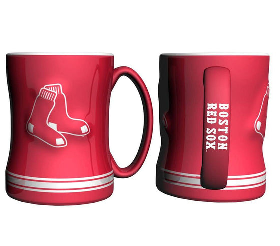 Boston Red Sox Coffee Mug - 14oz Sculpted Relief - Red (CDG)