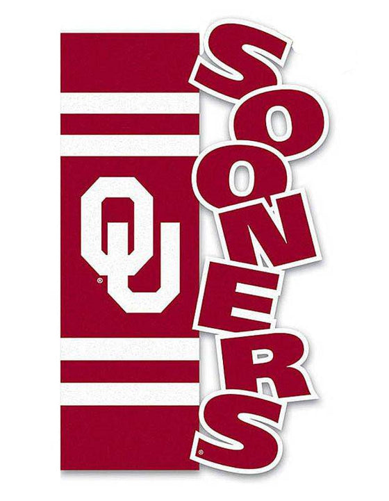 Oklahoma Sooners Garden Flag Applique Sculpted (CDG)