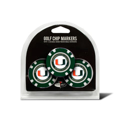 Miami Hurricanes 3 Pack Golf Chip Ball Markers