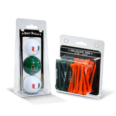 Miami Hurricanes 3 Golf Balls And 50 Golf Tees