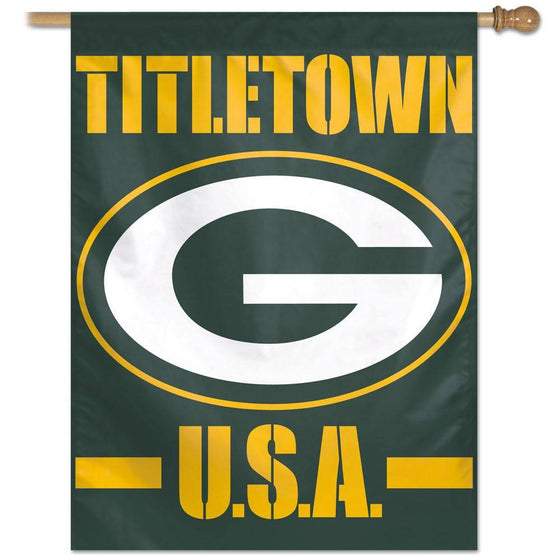 "Green Bay Packers Titletown Large Vertical Flag 27""x37"""
