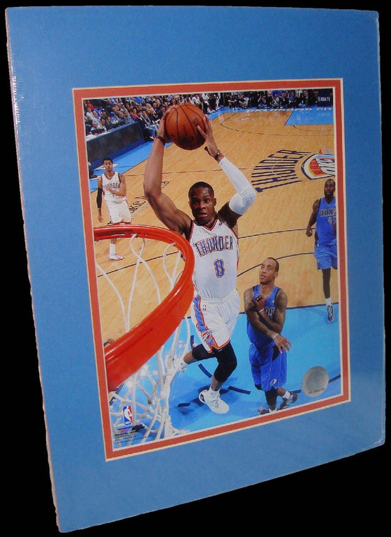 Russell Westbrook Oklahoma City Thunder Rim Matted 8x10 Photo Picture Poster Print