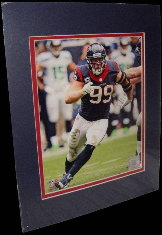 JJ Watt Houston Texans Blue Matted 8x10 Photo Picture Poster Print - 757 Sports Collectibles