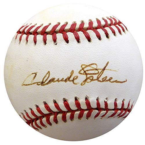 Claude Osteen Autographed Official NL Baseball Los Angeles Dodgers Beckett BAS #F22667