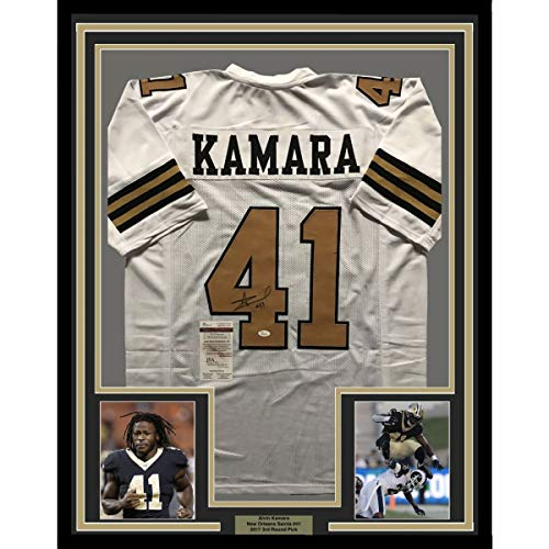 5dfc8145 Framed Autographed/Signed Alvin Kamara 33x42 New Orleans Saints Color Rush  Football Jersey JSA COA ...