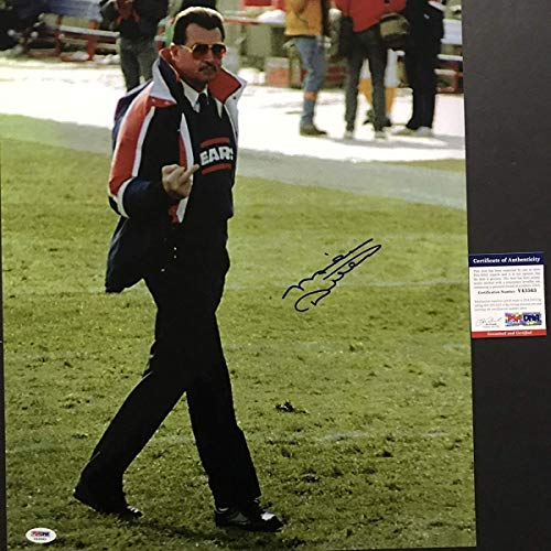 Autographed/Signed Mike Ditka Middle Finger Flipping Off Chicago Bears 16x20 Football Photo PSA/DNA COA