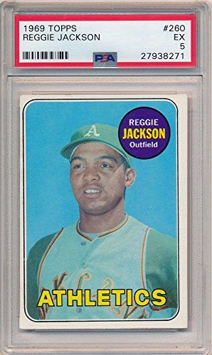 Bigboyd Sports Cards Reggie Jackson 1969 Topps 260 Rc Rookie Card Oakland Athletics Psa 5 Ex