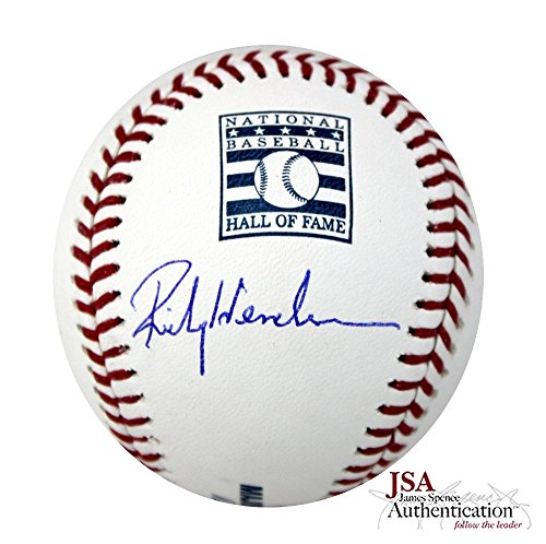 Rickey Henderson Autographed/Signed Rawlings Hall of Fame Baseball - Oakland Athletics