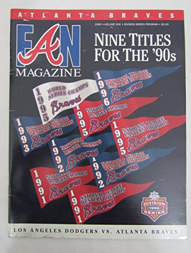 1996 NLDS Los Angeles Dodgers Vs. Atlanta Braves Program 131824