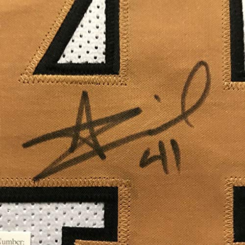 010549a7 ... Framed Autographed/Signed Alvin Kamara 33x42 New Orleans Saints Color  Rush Football Jersey JSA COA