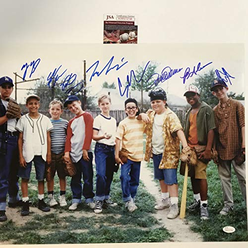 Autographed/Signed The Sandlot Movie 8x Cast Member Sigs 16x20 Baseball Photo JSA COA